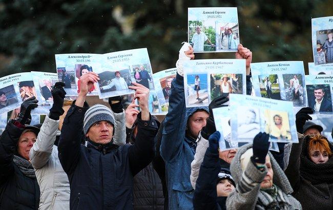 ВПетербурге почтили память жертв авиакатастрофы над Синаем