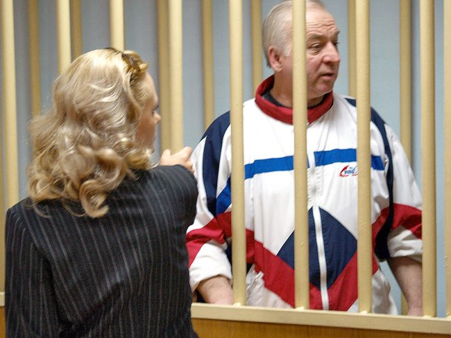 Sergey Skripal at a Moscow District Military Court hearing on August 9, 2006
