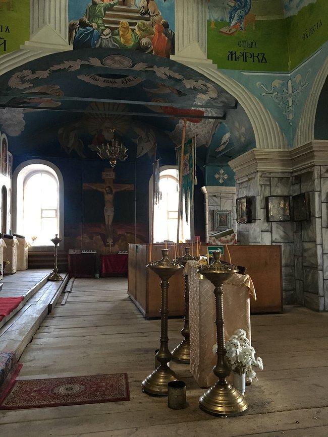 Внутри Ильинской церкви вТрубчевске, ноябрь 2018 года