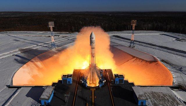 Запуск ракеты-носителя «Союз-2.1а» скосмодрома Восточный, 1февраля 2018 года