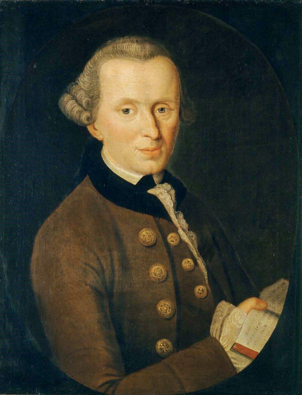 Портрет Иммануила Канта, 1768 год (холст, масло). Иоганн Готтлиб Беккер.