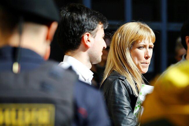 Мария Баронова наакции «Надоел» вМоскве, 29апреля 2017 года