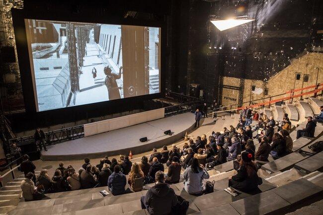 Презентация проекта «Дау» для журналистов, Театр-де ляВиль, Париж, январь 2019 года<br>