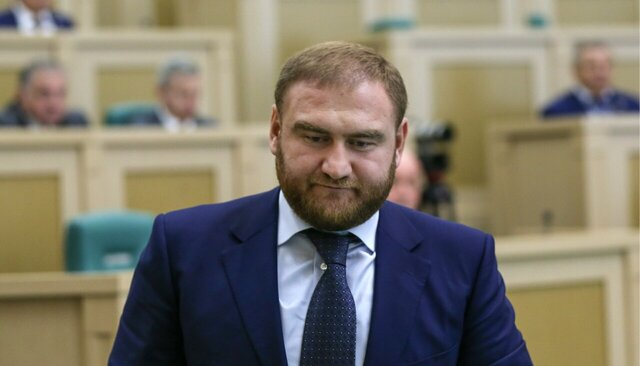 Russian Senator Detained on Murder Charges Inside Parliament