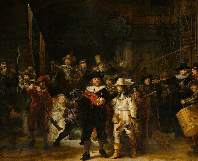 «Выступление стрелковой роты капитанаФранса Баннинга КокаилейтенантаВиллема ван Рейтенбюрга» (или «Ночной дозор»), 1642 год