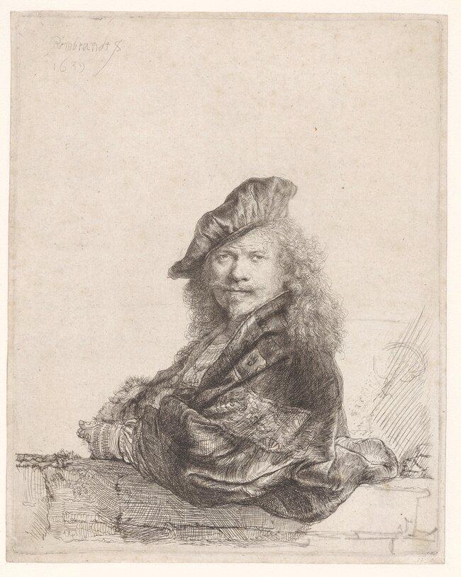 Автопортрет Рембрандта, 1639 год
