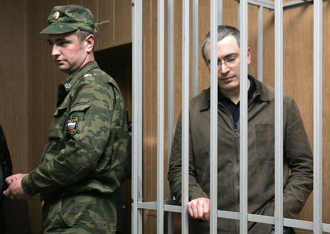 Михаил Ходорковский всуде. 17мая 2005 года
