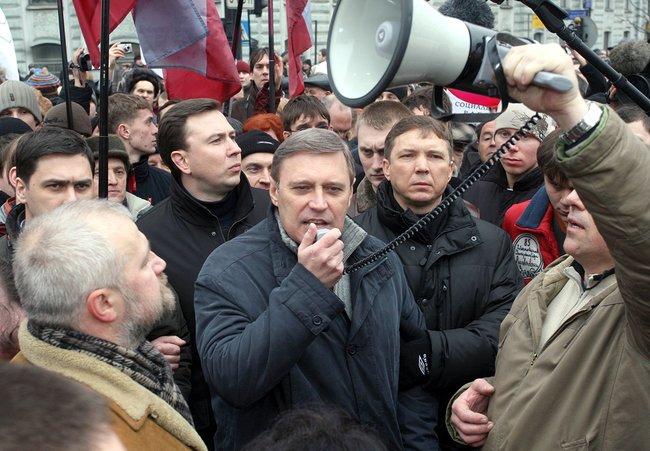 Михаил Касьянов на«Марше несогласных» вСанкт-Петербурге. 7марта 2007 года
