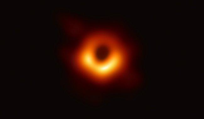 Изображение черной дыры вгалактике M87