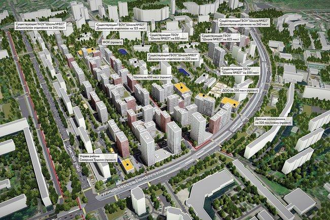 Проект планировки микрорайона №5 района Северное Тушино