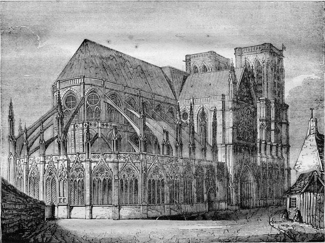 Нотр-Дам-де-Пари награвюре 1836 года