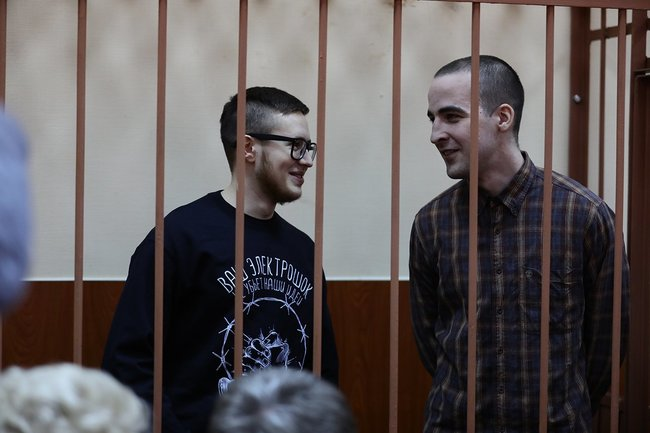 """Set"" case suspects Viktor Filinkov and Julius Boyarshinov, April 2019"
