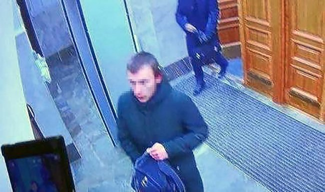 Mikhail Zhlobitsky, moments before setting off a bomb in the FSB's office in Arkhangelsk