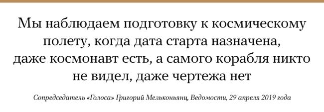 """Мосгордума <a href=""""https://www.vedomosti.ru/politics/articles/2019/04/29/800534-distantsionnih-viborah"""" target=""""_blank"""">приняла</a> впервом чтении законопроект, который позволяет провести всентябре 2019 года первые вистории России выборы органов власти через интернет. Ожидается, что водном или нескольких одномандатных округах (всего их45) москвичи смогут выбирать депутатов Мосгордумы через портал городских государственных услуг. Московский законопроект начали принимать несмотря нато, что Государственная дума пока <a href=""""https://sozd.duma.gov.ru/bill/654402-7"""" target=""""_blank"""">неразрешила</a> проведение эксперимента нафедеральном уровне. Как отмечают <a href=""""https://www.vedomosti.ru/politics/articles/2019/04/29/800534-distantsionnih-viborah"""" target=""""_blank"""">«Ведомости»</a>, вовсех представленных документах неописано, как именно стехнической точки зрения будут учитываться голоса избирателей икак можно будет контролировать ихподсчет входе выборов. Кто будет разрабатывать электронную систему голосования, также неизвестно."""