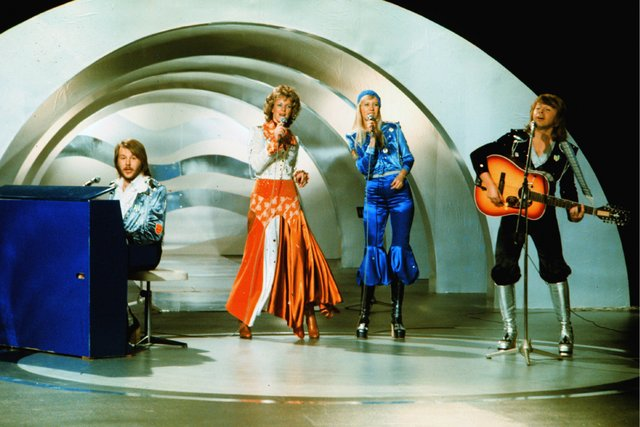 1974 год. Группа «ABBA» на«Евровидении»