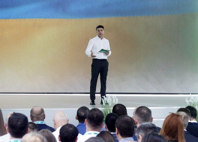 Владимир Зеленский насъезде партии «Слуга народа». Киев, 9июня 2019 года