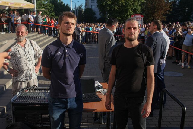 'I want changes!'. Minsk court jails two sound engineers for ten days for playing a famous protest song at a pro-government event