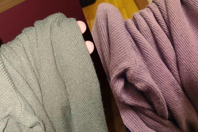 Оптическая иллюзия: свитер-хамелеон меняет цвет  он то зеленый, то фиолетовый
