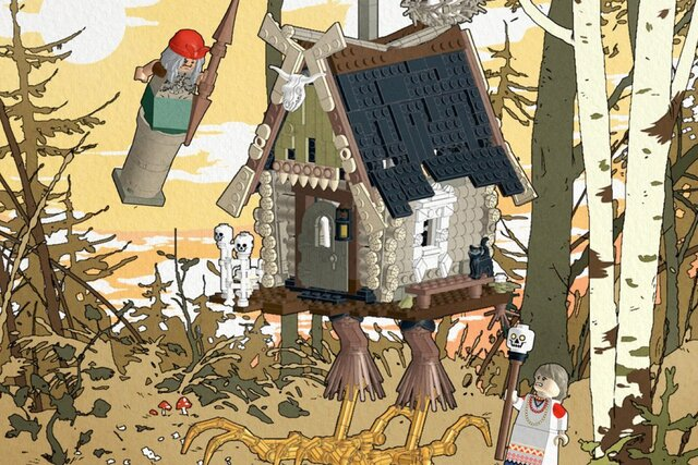 Захотелось: художник из Петербурга создал концепт набора Lego по мотивам русских сказок. В главной роли Баба Яга