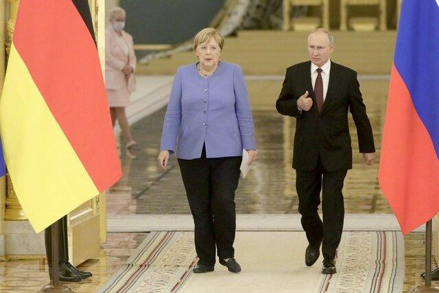 Меркель в последний раз в должности канцлера встретилась с Путиным. Вот что они сказали после переговоров  об Афганистане, Украине и Навальном