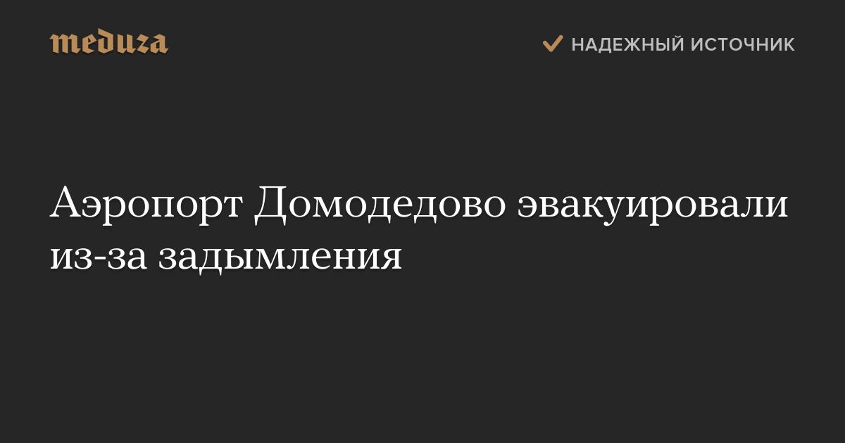 Аэропорт Домодедово эвакуировали из-за задымления