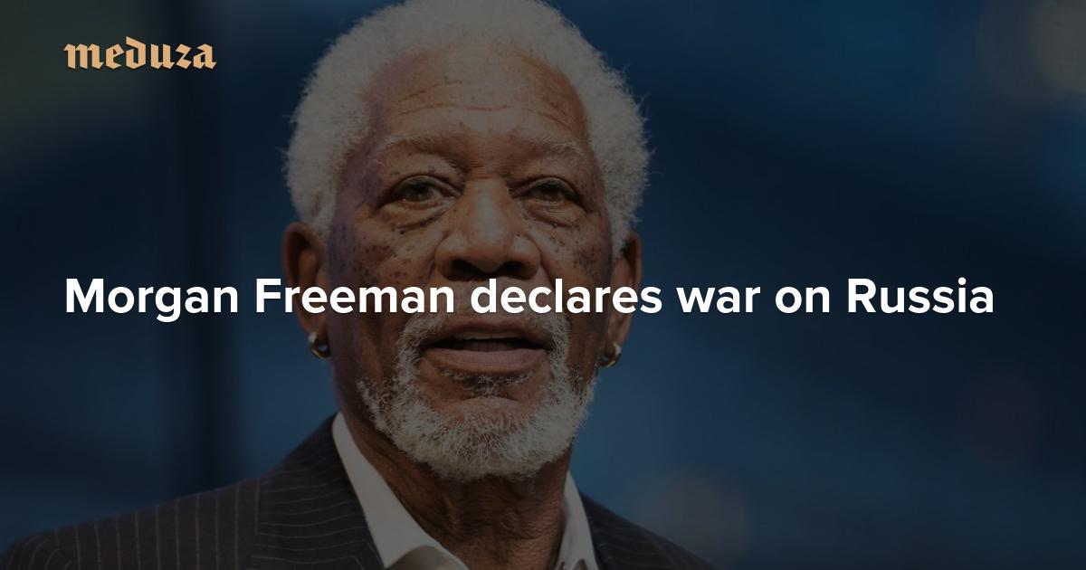 Rusko šíří propagandu, Donald Trump by měl říct pravdu, uvedl Morgan Freeman
