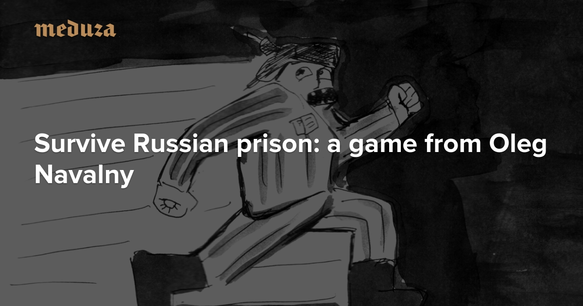 Image result for Survive Russian prison A new game from Oleg Navalny, with illustrations by the author!