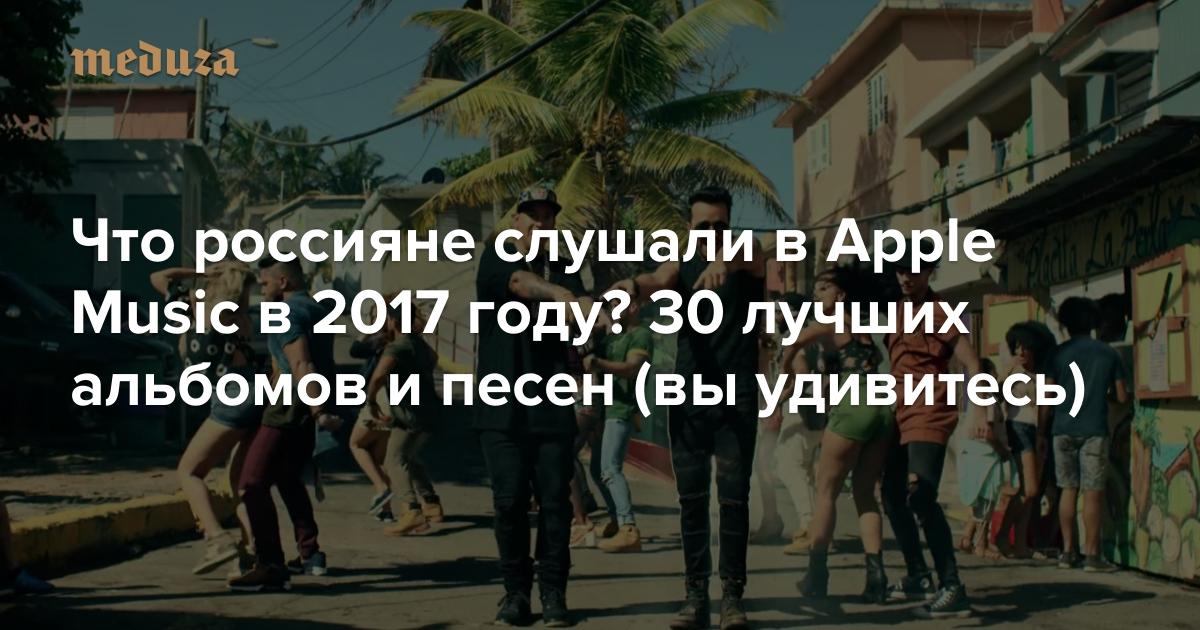 Что россияне слушали вApple Music в2017 году? 30 лучших альбомов ипесен (выудивитесь) — Meduza