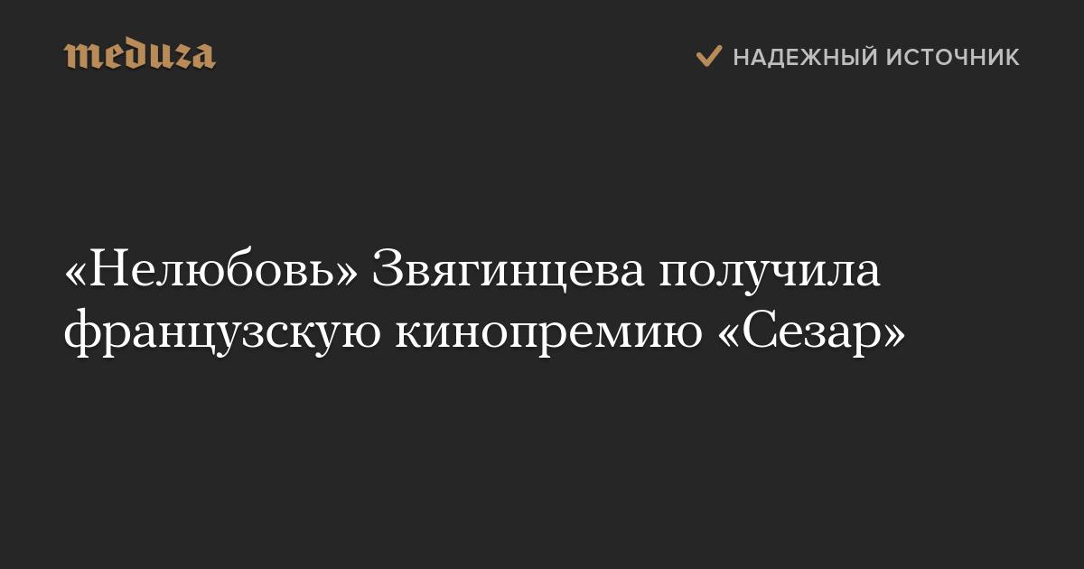 «Нелюбовь» Звягинцева получила французскую кинопремию «Сезар» — Meduza