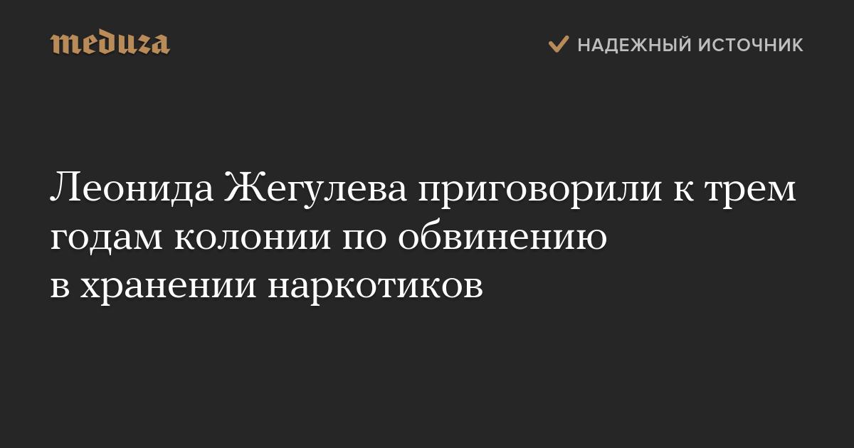 Леонида Жегулева приговорили ктрем годам колонии пообвинению вхранении наркотиков