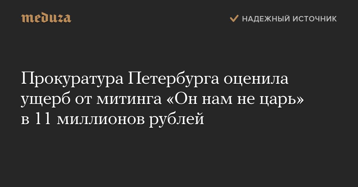 Прокуратура Петербурга оценила ущерб отмитинга «Оннам нецарь» в11 миллионов рублей