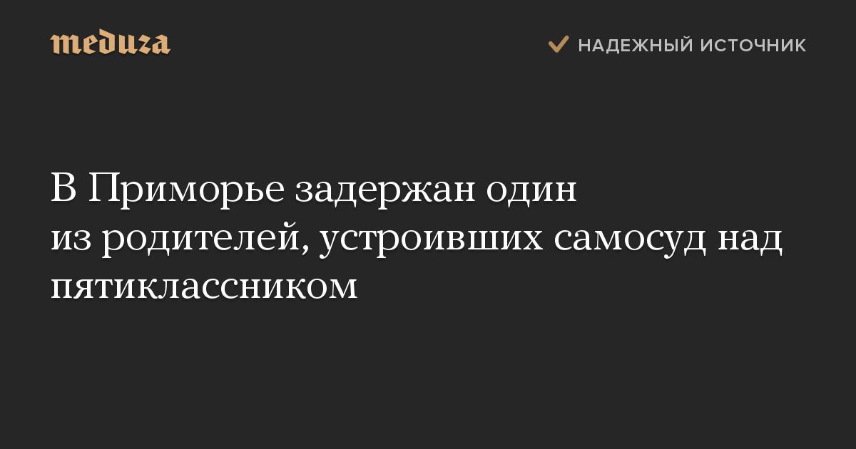 ВПриморье задержан один изродителей, устроивших самосуд над пятиклассником