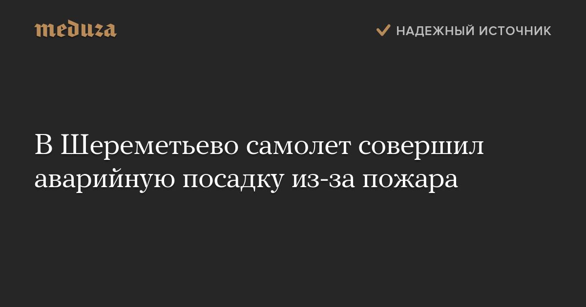 В Шереметьево самолет совершил аварийную посадку из-за ...