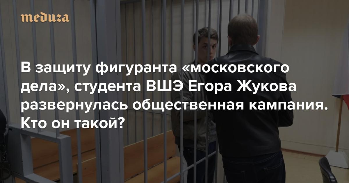 В защиту фигуранта «московского дела», студента ВШЭ Егора Жукова развернулась общественная кампания. Кто он такой? — Meduza