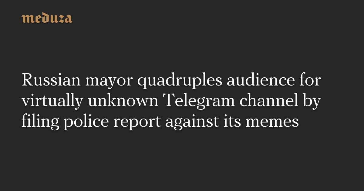 Russian mayor quadruples audience for virtually unknown