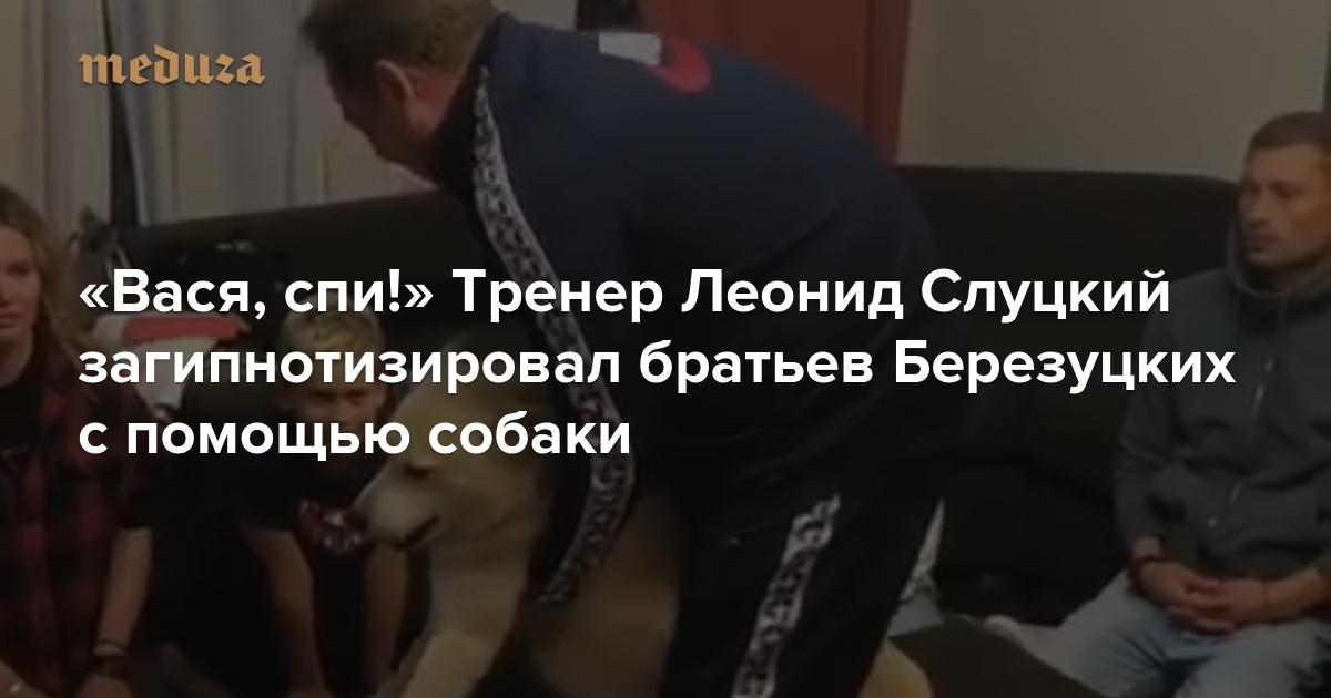«Вася, спи!» Тренер Леонид Слуцкий загипнотизировал братьев Березуцких с помощью собаки