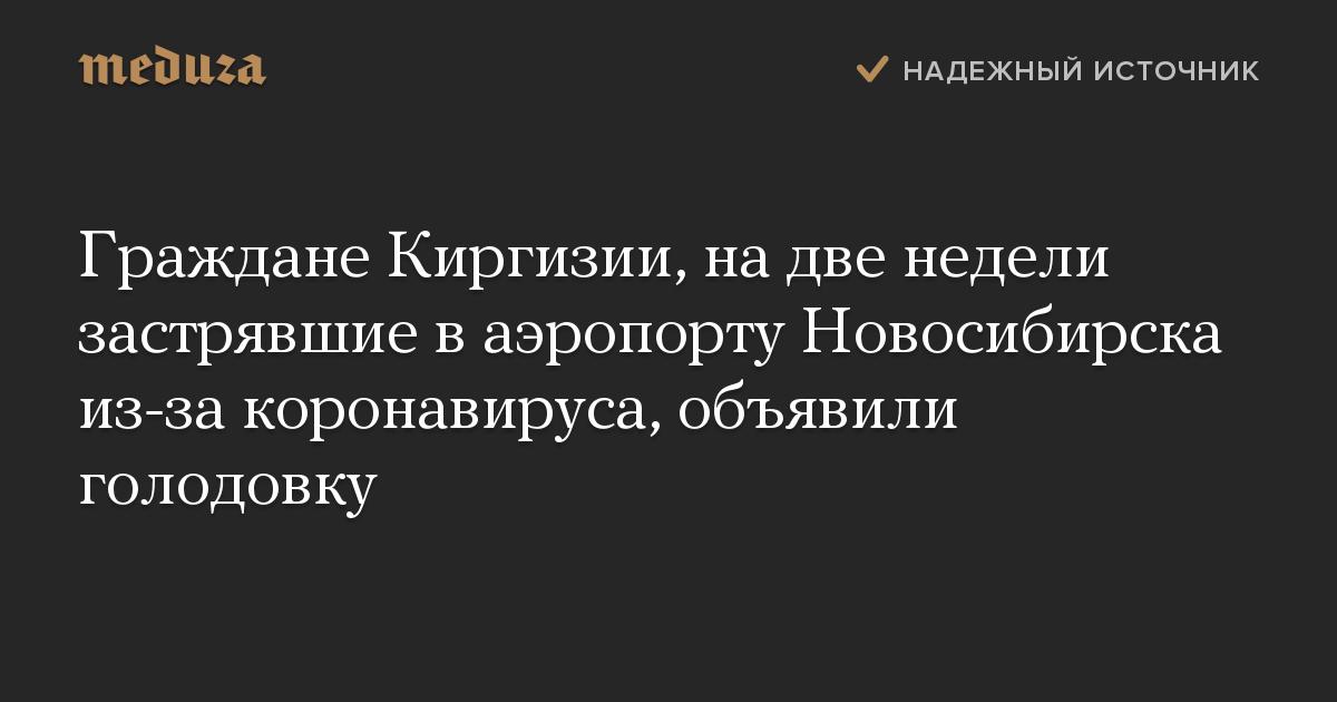 Граждане Киргизии, надве недели застрявшие ваэропорту Новосибирска из-за коронавируса, объявили голодовку