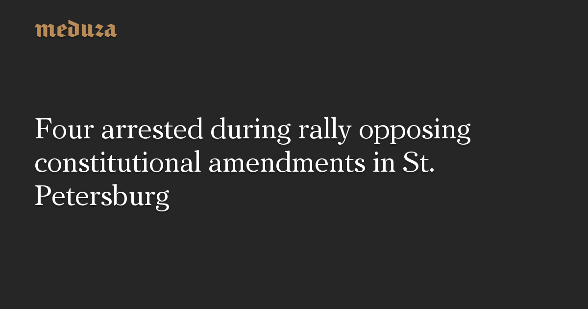 Four arrested during rally opposing constitutional amendments in St. Petersburg