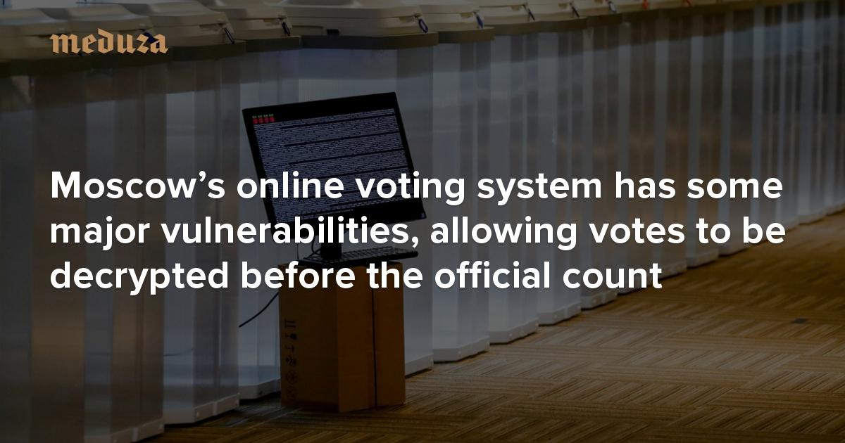 Russia's nationwide vote on constitutional amendments continued the country's experiment with online voting, but only in the Moscow and Nizhny Novgorod regions. This time around, developers changed the voting system so that individual voters are guaranteed th…