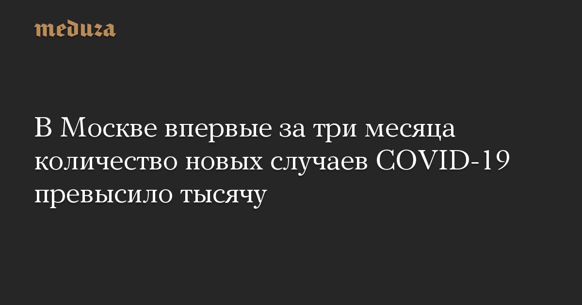 ВМоскве впервые затри месяца количество новых случаев COVID-19 превысило тысячу