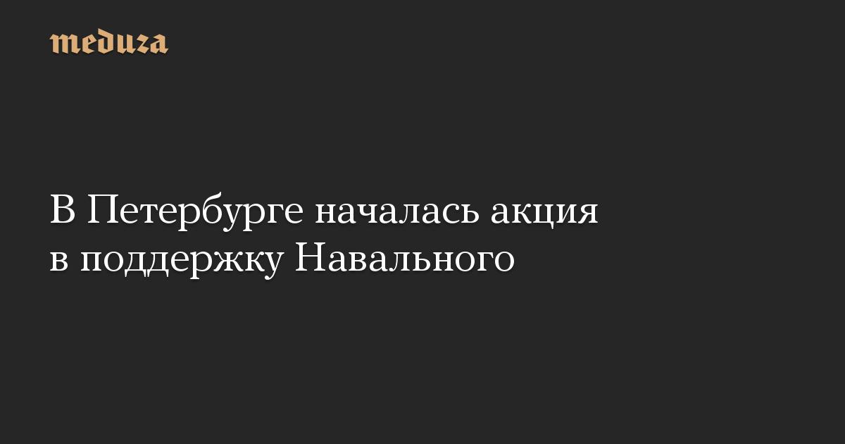 ВПетербурге началась акция вподдержку Навального
