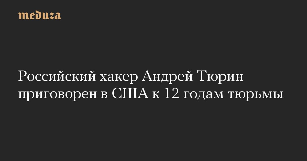 Российский хакер Андрей Тюрин приговорен в США к 12 годам тюрьмы