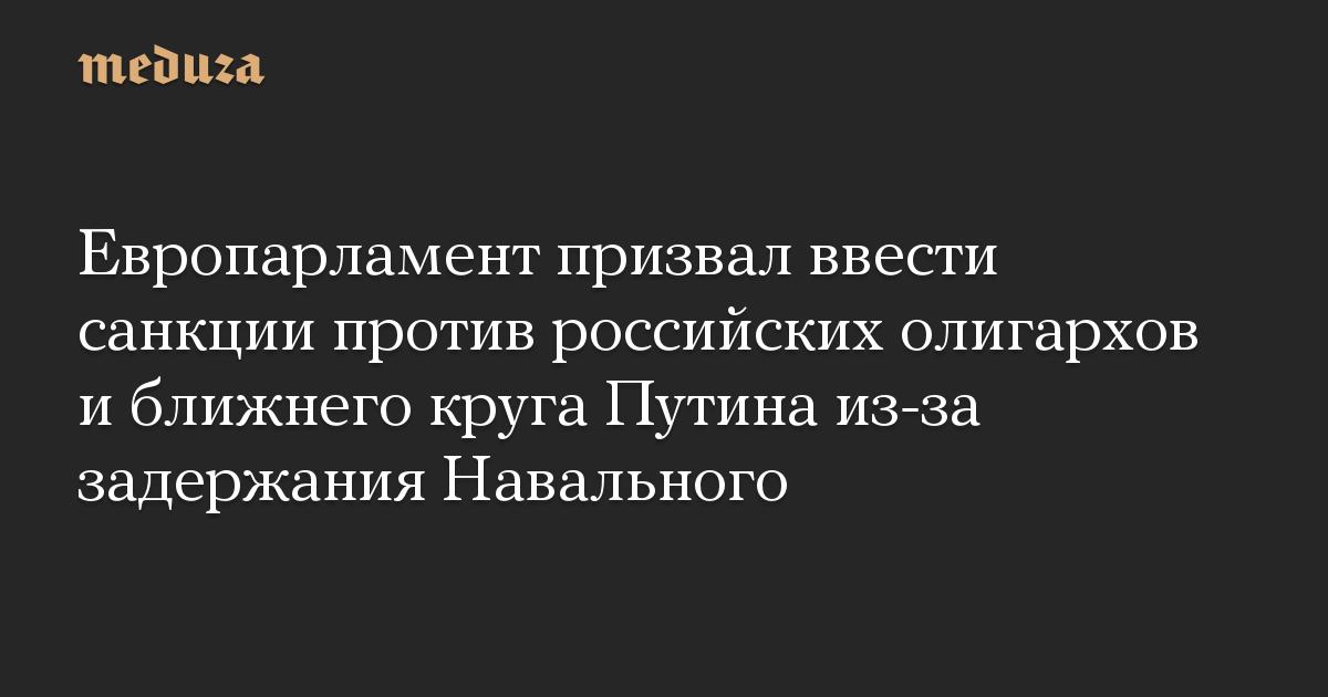 Европарламент призвал ввести санкции против российских олигархов и ближнего круга Путина из-за задержания Навального