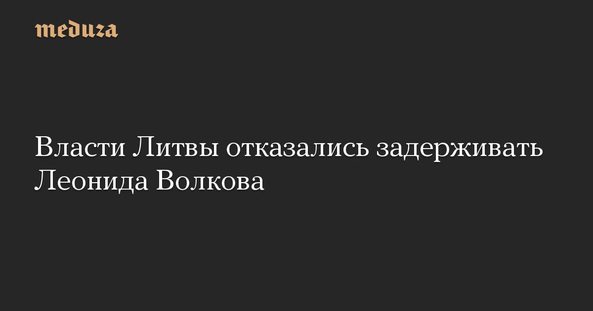Власти Литвы отказались задерживать Леонида Волкова