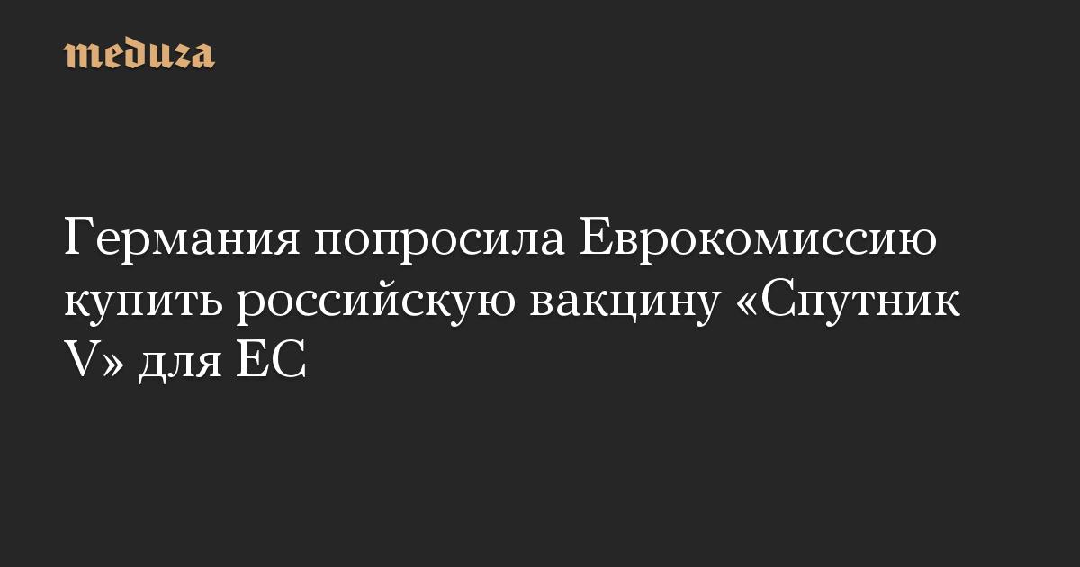Германия попросила Еврокомиссию купить российскую вакцину Спутник V для ЕС