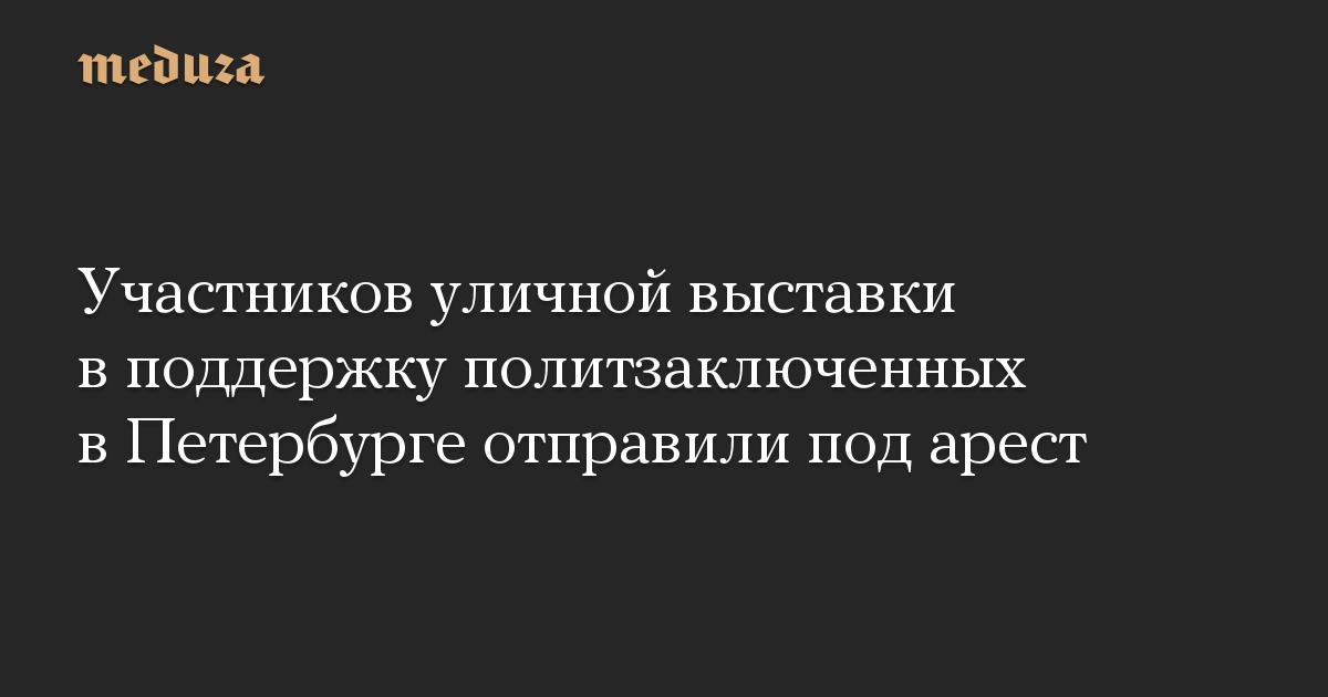 Участников уличной выставки в поддержку политзаключенных в Петербурге отправили под арест