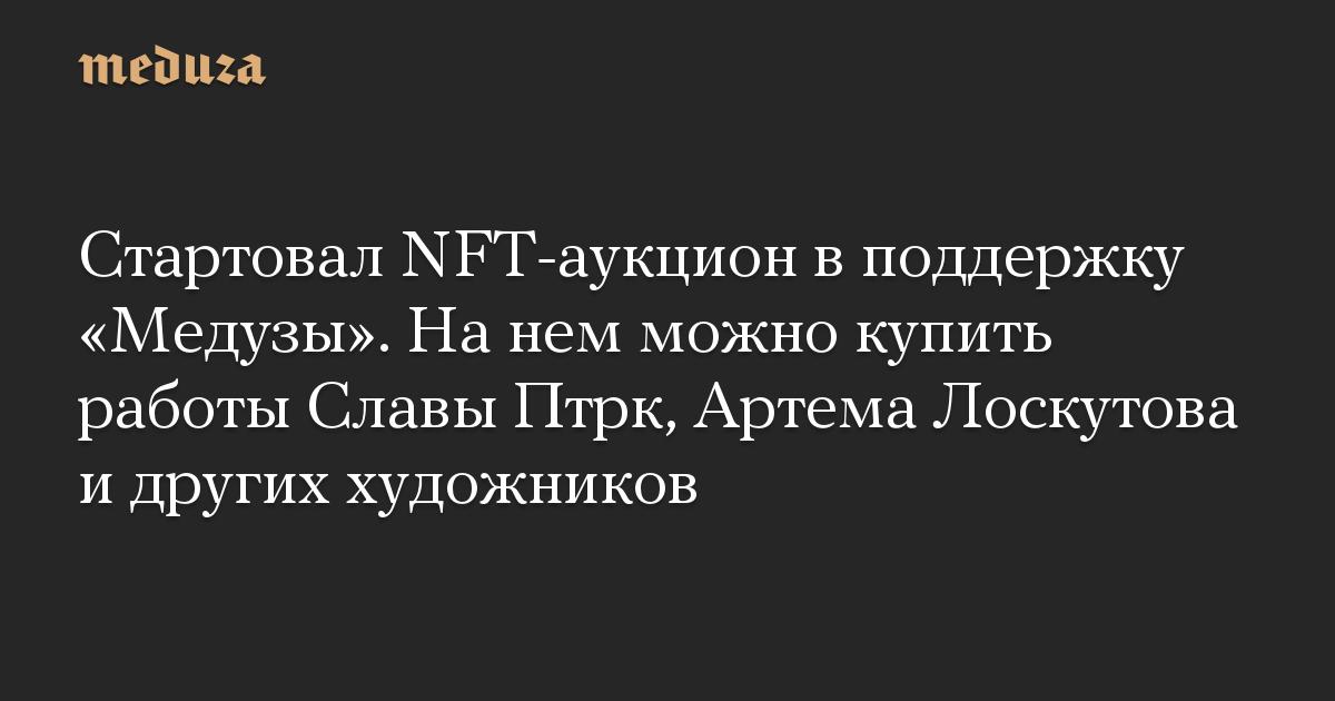 Стартовал NFT-аукцион в поддержку Медузы. На нем можно купить работы Славы Птрк, Артема Лоскутова и других художников