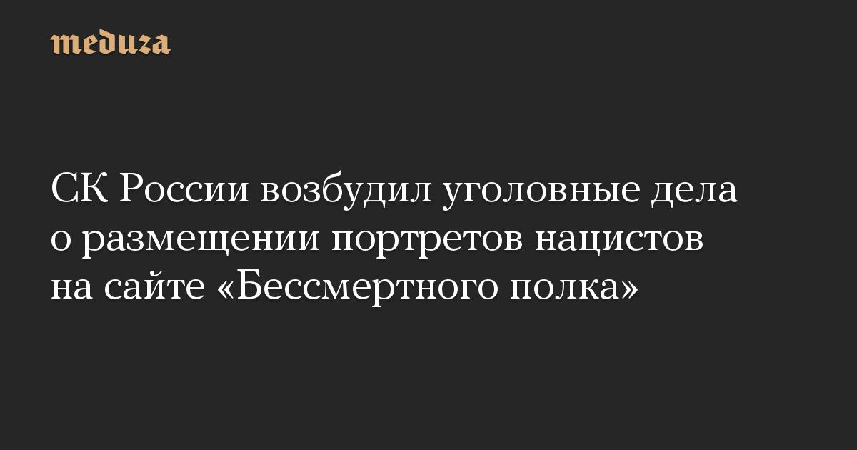 СК России возбудил уголовные дела о размещении портретов нацистов на сайте Бессмертного полка