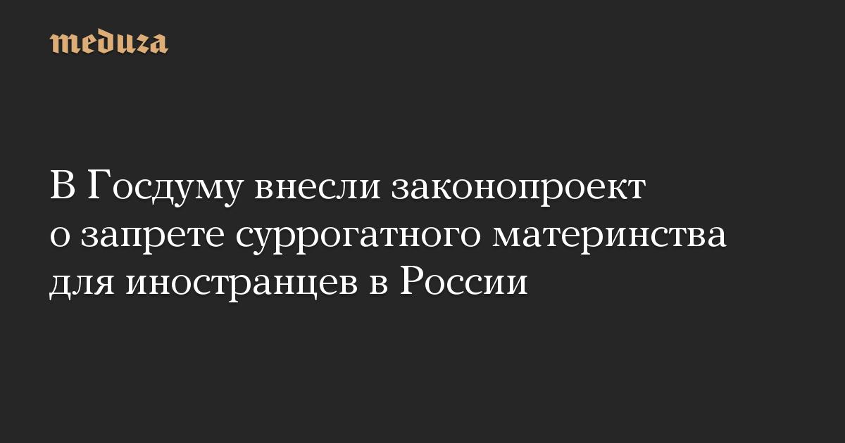 В Госдуму внесли законопроект о запрете суррогатного материнства для иностранцев в России