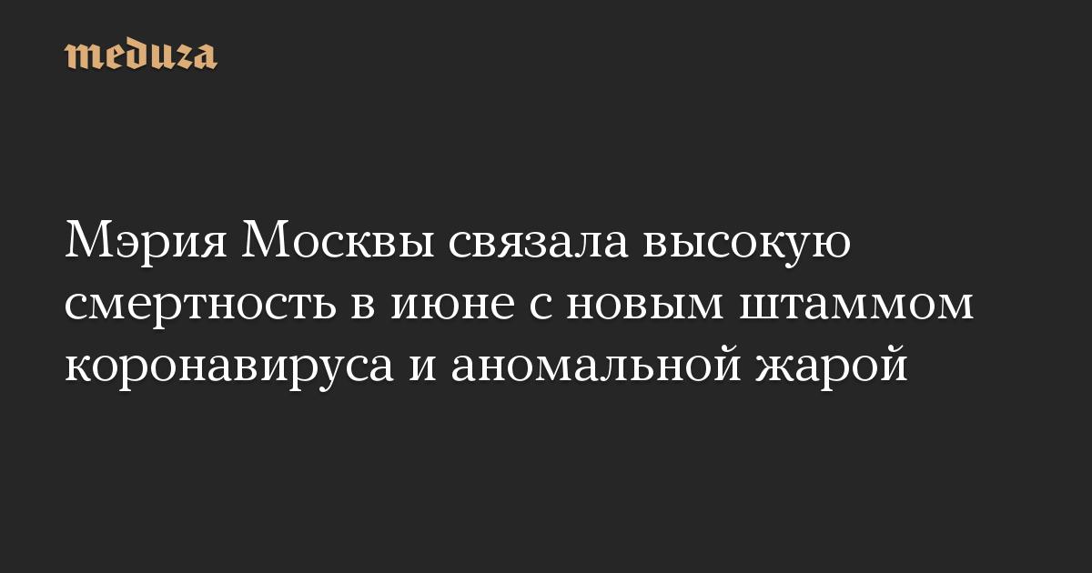Мэрия Москвы связала высокую смертность в июне с новым штаммом коронавируса и аномальной жарой